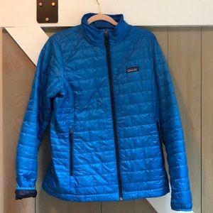 Size large, Patagonia jacket. Blue. EUC.